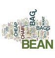 find that perfectly cheap bean bag chair text vector image vector image
