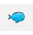 Fish can be used as Logo or Icon vector image vector image