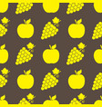 fruits seamless pattern icon background vector image