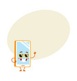 funky cartoon mobile phone smartphone character vector image vector image