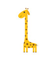 giraffe with spot zoo animal cute cartoon vector image vector image