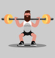 guy doing exercises vector image