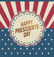happy presidents day grunge backgroundretro style vector image vector image