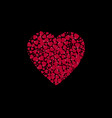 heart shape filled with hearts on a black vector image vector image