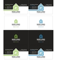 home inside the house business card vector image vector image