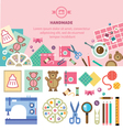 Homemade toys and clothes vector image vector image