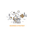 icon business 05 business strategy vector image vector image