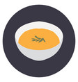isolated bowl of ramen vector image