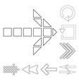 isolated object element and arrow symbol vector image