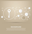 key icon on a brown background with elegant style vector image vector image