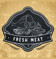 label for restaurant cafe bar or grocery store vector image