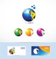 Letter A sphere logo vector image vector image