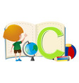 letter c and little boy vector image