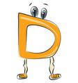 letter d alphabet emoji or color vector image vector image