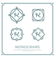 Letter K Monogram vector image vector image