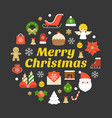 merry christmas typography font and elements vector image vector image