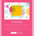 modern design website sample vector image