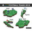national soccer teams 2018 group d football vector image