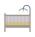 Newborn crib and mobile toy vector image