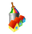 painting houses design vector image vector image