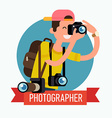 Photographer Icon vector image vector image