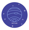 planet neptune icon in thin line style vector image vector image