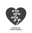 power of forgiveness glyph icon vector image vector image