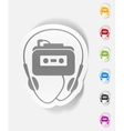 realistic design element music player vector image vector image