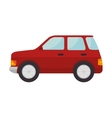 red car vehicle vector image vector image