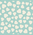seamless pattern with applique hearts vector image vector image