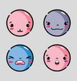 set character emoji faces emotion message vector image vector image