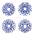 Set from Blue Indian Curl Ornament vector image