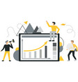 set of business people flat icons flat style vector image