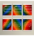 Six spoken bubbles on a colorful background vector image vector image