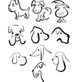 sketches of dogs vector image