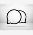 social media thin line icon dialog pictograph vector image