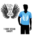 T-shirt Design With Lettering vector image