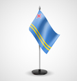 Table flag of Aruba vector image vector image
