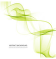 transparent green waves vector image vector image