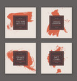 trendy hand drawn cards vector image vector image