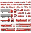 vehicle assorted silhouettes vector image vector image