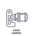 video camera line icon concept video camera vector image vector image