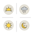 Weather color icons set vector image