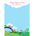 When my love is blooming background vector image vector image