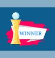 winner golden award statue vector image