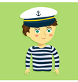 Boy with Captain Hat and Costume vector image