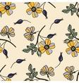 vintage seamless pattern with eglantine vector image