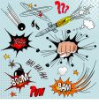 comic elements vector image