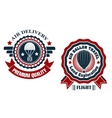 air delivery and hot balloon badges vector image