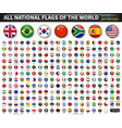 all national flags of the world circle convex vector image vector image